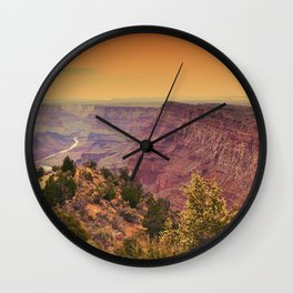 Grand Canyon before sunset. Wall Clock
