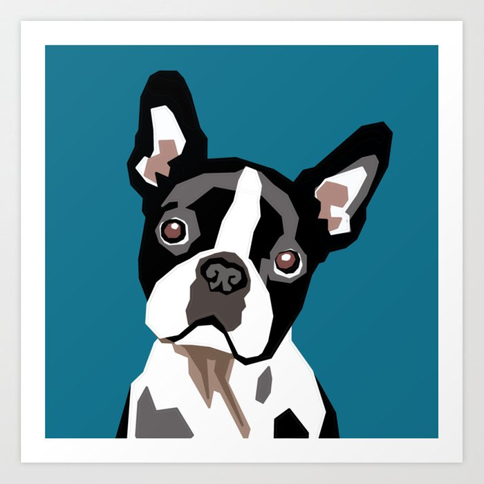 BABY BOSTON TERRIER PORTRAIT Art Print