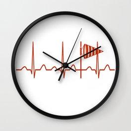 Meteorologist Heartbeat Wall Clock