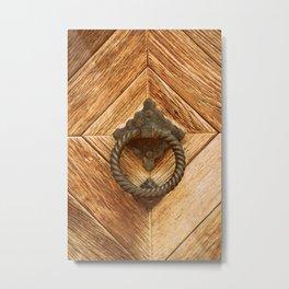Door Knocker III Metal Print