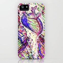 chromatic heart iPhone Case