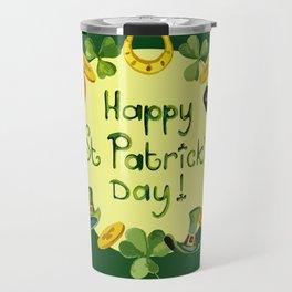 Happy St Patrick`s Day Travel Mug
