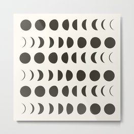 Phases of the Moon II Metal Print