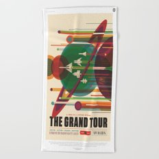 The Grand Tour : Vintage Space Poster Beach Towel