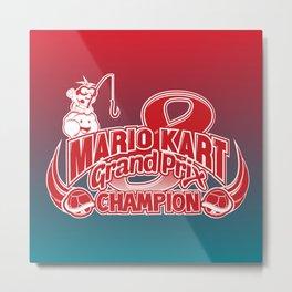 Mario Kart 8 Champion Metal Print