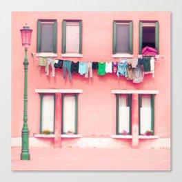 Laundry Venice Italy Travel Photography Canvas Print