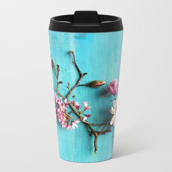 Flowers of Spring Metal Travel Mug