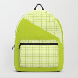 Geometric Lime Grid Collage Backpack
