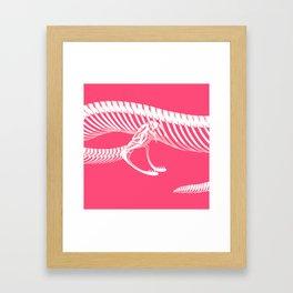 Pink Bite Framed Art Print