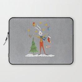 Rabbit celebrating Christmas Laptop Sleeve