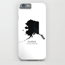 Alaska State Road Map iPhone Case