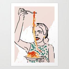 Gluten, tomate, queso (1/3) Art Print