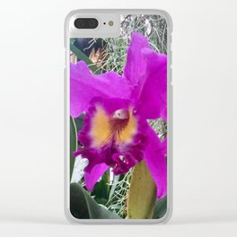 Fuchsia Orchids Clear iPhone Case