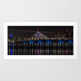 Boston Bridges at Night Art Print