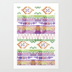 Watercolour Quilt #2 Art Print