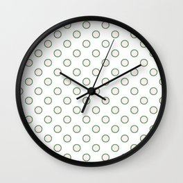 Retro Polka Dots Wall Clock