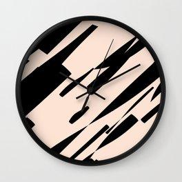 black & pale peach /geometric series Wall Clock
