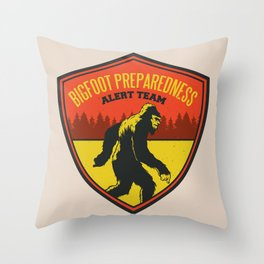 Big Foot Alert Team Throw Pillow