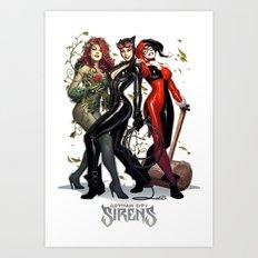Sirens Gotham city Art Print