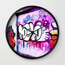 Kitty Kitty Graffiti West Philly Wall Clock