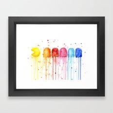 Retro Rainbow Geek Video Game Art Framed Art Print