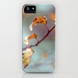 Fall Leaves Haiku iPhone Case