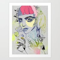 grimes Art Prints featuring Grimes by Jasmine Jean