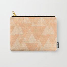 Gentle light sand triangles in the intersection and overlay. Carry-All Pouch