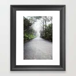 fog in the distance Framed Art Print