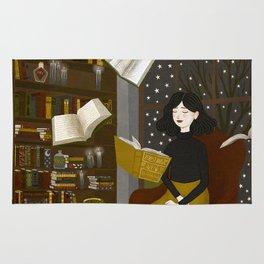 floating books Rug