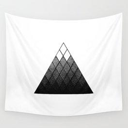 Geometric Snowy Mountain Wall Tapestry