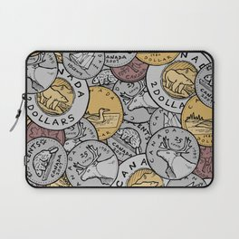 Canadian Coins Laptop Sleeve