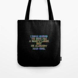 """Funny """"Nasty Look"""" Joke Tote Bag"""