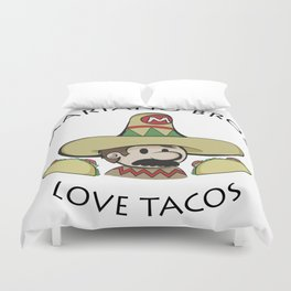 Mariano Bros Love Tacos Duvet Cover