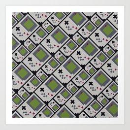 GB PIXEL PATTERN Art Print