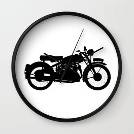 Motor Cycle Silhouette Wall Clock