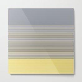 Soft Pantone Grey Stripes Metal Print