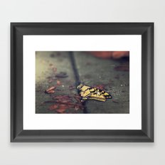 don't be afraid, it's only change Framed Art Print