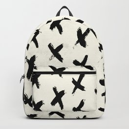 Black X on Ivory Backpack