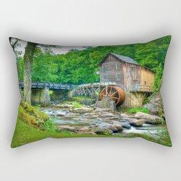Image USA Stream Babcock State Park Nature water m Rectangular Pillow