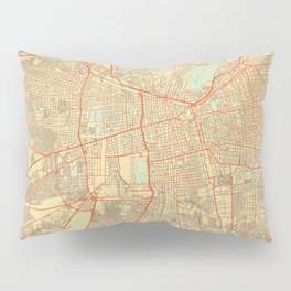 Santiago Map Retro Pillow Sham