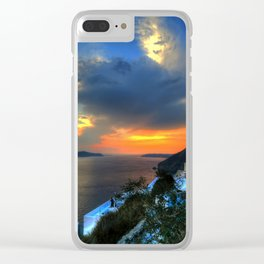 Sunset v Clear iPhone Case