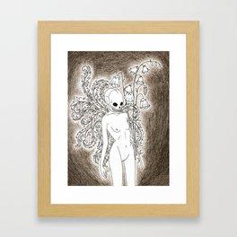 gurl skull Framed Art Print