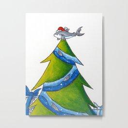 A Great White Christmas Metal Print