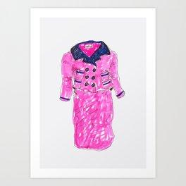 Pink Suit Art Print