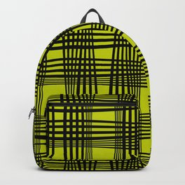 Yellow Plaid // Flannel check Backpack