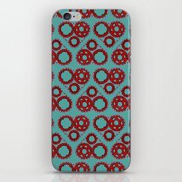 Bicycle Gear Heart close up iPhone Skin