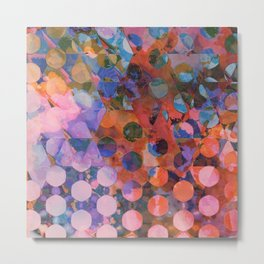 Circles on Triangles Twilight Metal Print