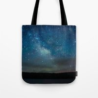 milky way Tote Bags featuring Milky Way by Kassie Jackson