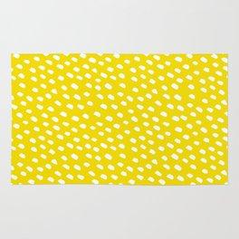 Brush Dot Pattern Yellow Rug